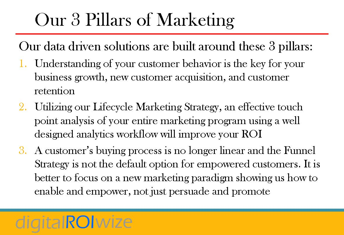 3 Marketing Pillars